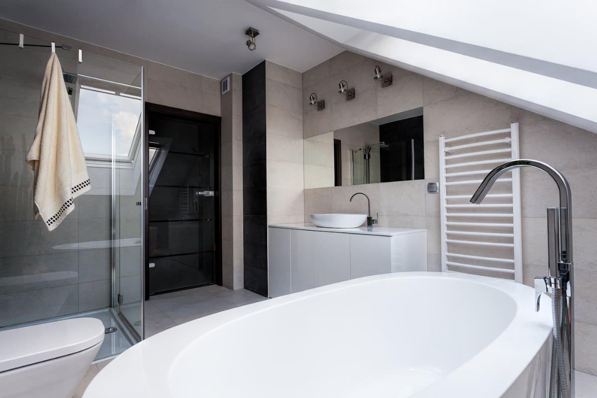 inrichting zolder badkamer